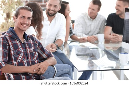 creative team at a working meeting