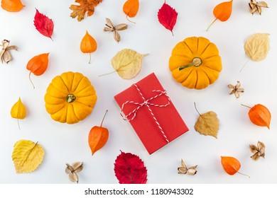 Creative Top View Flat Lay Autumn Stock Photo Edit Now 1184660257