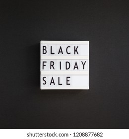 Creative Top view flat lay promotion composition Black friday sale text on white lightbox black background copy space Square Template Black friday sale mockup fall thanksgiving advertising