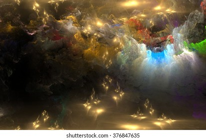 Creative Universe location fractal elements, fantasy, science, religion and design