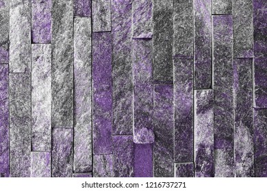 creative vintage purple natural quartzite stone bricks texture for background use.