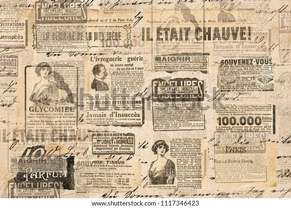 Creative vintage style background. Paper texture. Newspaper strips