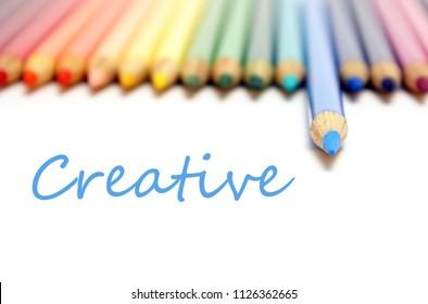 Creative workflow using artistic coloring pencils.