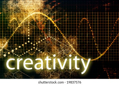 Creativity Abstract Technology Concept Wallpaper Background With Graph