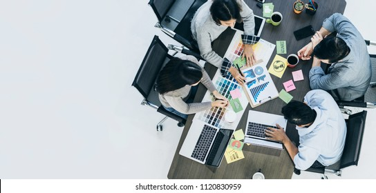 creativity business ideas concept with group of designer brainstorm in beautiful deisgn office office for best result solution for success goal