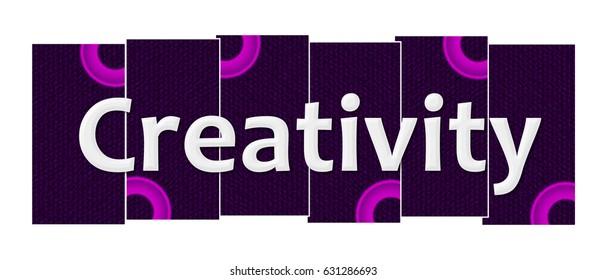 Creativity Purple Pink Rings Horizontal