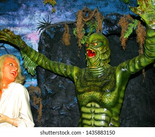 The Creature from the Black Lagoon waxwork tableau.  Taken at the Musee Conti wax museum in New Orleans, LA on May 18, 2005.
