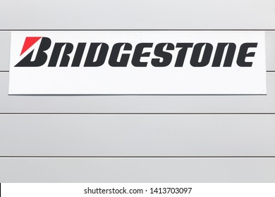 Creches, France - June 20, 2017: Bridgestone logo. Bridgestone is a multinational auto and truck parts manufacturer founded in 1931 and also one of the largest manufacturer of tires in the world