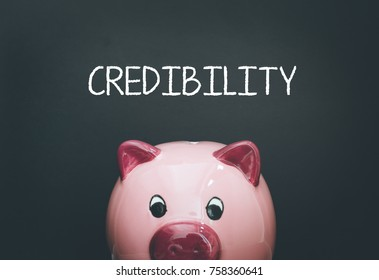 CREDIBILITY AND FINANCE CONCEPT