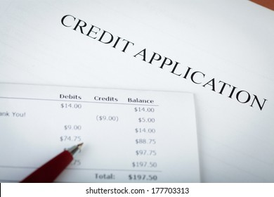 Credit application with pen