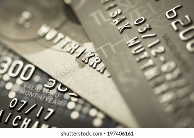 Credit Card Background by Macro shot