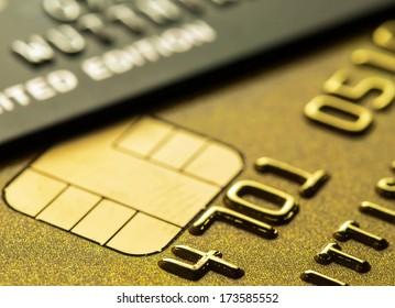 Credit card for background set low key shot.