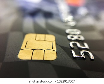 Credit card with chip