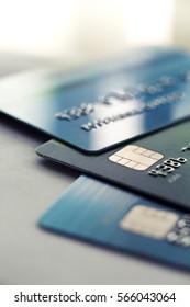 Credit card close up shot for background,Finance concept.