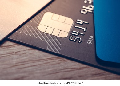 Credit card. close up, Business background.