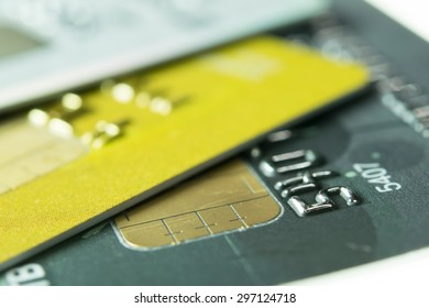 Credit Card Concept focus on number.