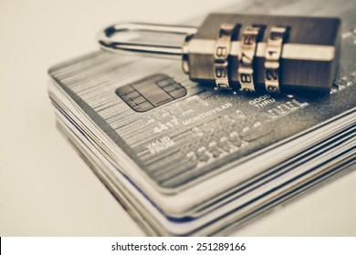 Credit card data encryption concept