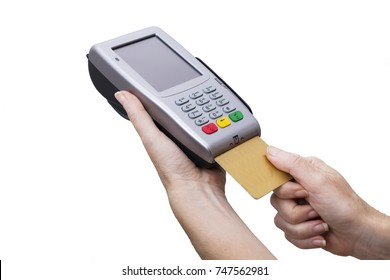 credit card with electronic payment terminal