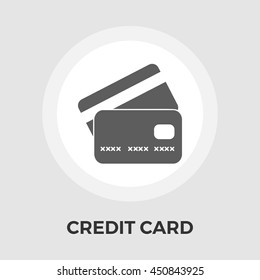 Credit Card flat icon isolated on the white background.