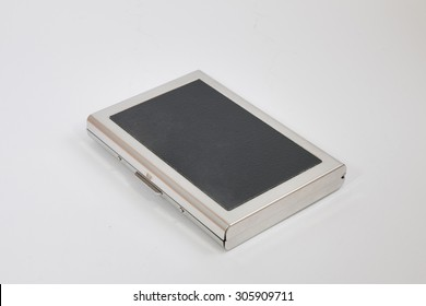 Credit card holder on white background