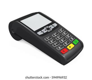 Credit Card Machine. 3D rendering