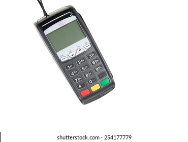 Credit card machine isolated on white background