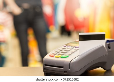 Credit Card With Credit Card Machine (Selective Focus)