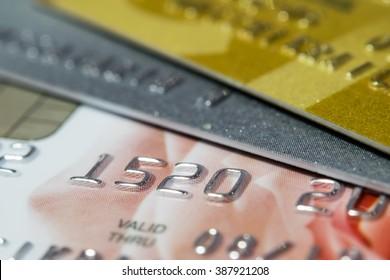 Credit Card Macro shot ( Selective Focus)