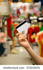Credit Card On Customer Hand For Payment