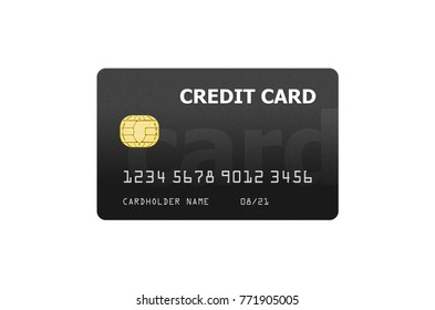 Credit card project template isolated on white. card credit pay paying debit project template business concept
