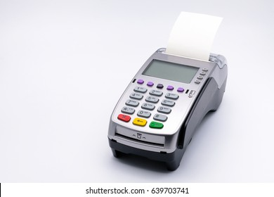 Credit card reader isolated on white background