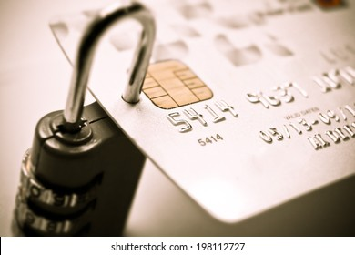 credit card with security lock - data theft protection