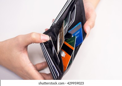 credit card in wallet - cashless