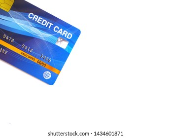 Credit card,black,yellow,glossy blue,put on a white background