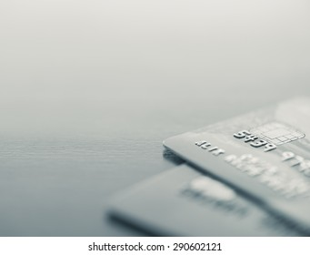 Credit cards up close with copy space - Split toned