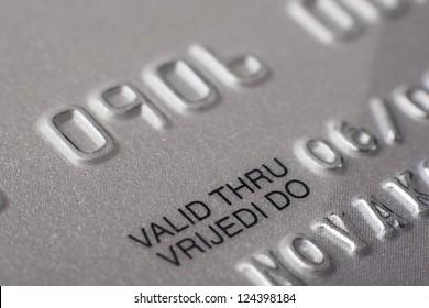 Credit Cards - Valid thru