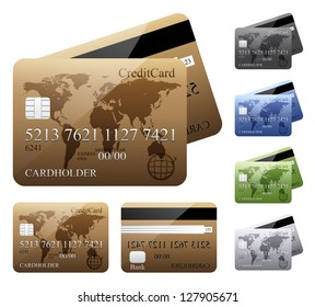 Credit cards. Vector version also available in gallery.