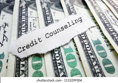 Credit Counseling paper message on money