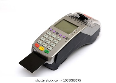 Credit Debit Card Reader Machine on Isolated white background