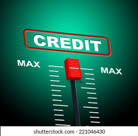 Credit Max Indicating Upper Limit And Loan