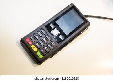 60e99e30c0e8fa Credit Card Reader Machine On White Stock Photo (Edit Now) 426660238 ...