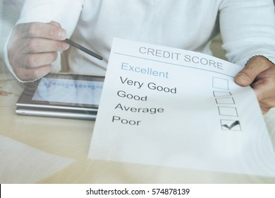 Credit report. Business concept.