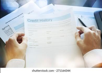 Credit report concept