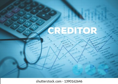 CREDITOR AND BUSINESS WORKPLACE CONCEPT