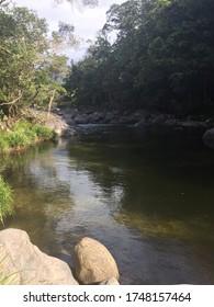 creek in Daintree rainforest in Queensland Australia