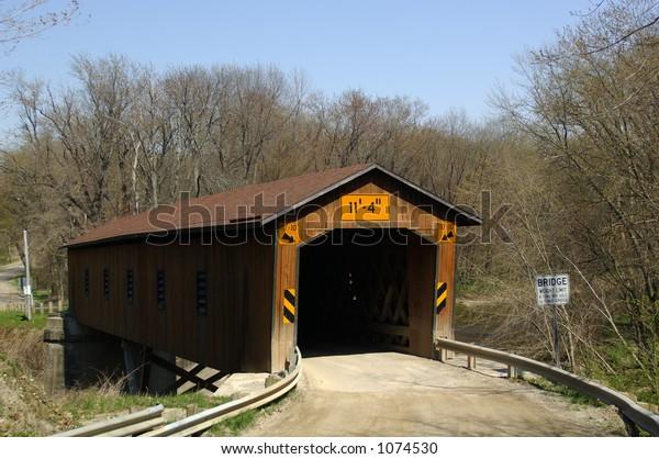 Creek Road Bridge - town truss type - 112' long - crosses Conneaut Creek - Ashtabula Co., OH