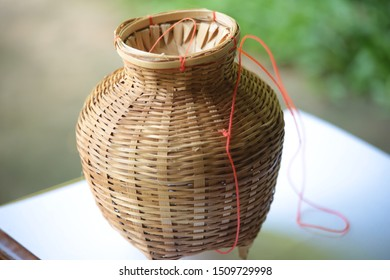 Creels is made from bamboo. The origin of the wisdom of the Thai people.