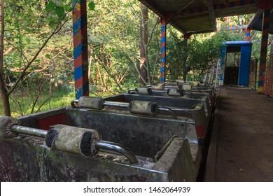 Creepy abandoned amusement park in Yangon, formerly known as Rangoon, Myanmar