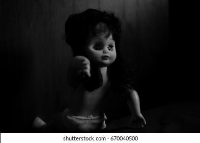 creepy doll deformed