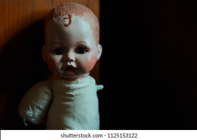 creepy doll in high contrast concept